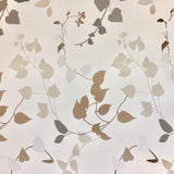 Brown and Silver Shimmer Leaf Fabric - Pound Fabrics
