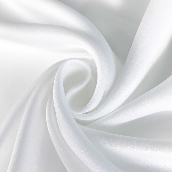 Ivory Satin Crepe Fabric