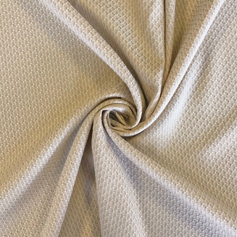 Beige Textured Upholstery Fabric