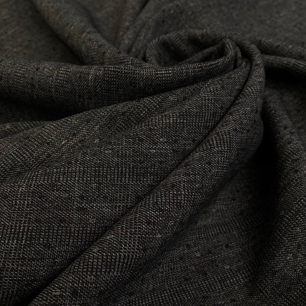 Grey Boucle Look Woven Fabric