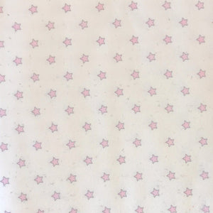Pink Stars Fleece Fabric