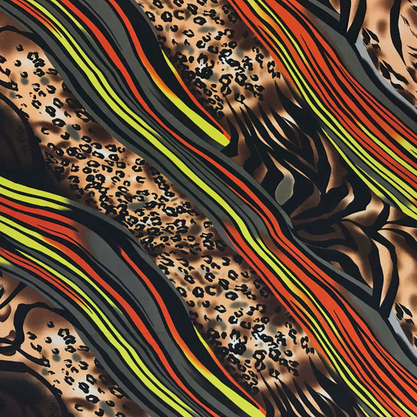 Leopard Stripes Polyester Fabric
