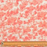 All Over Pink Blossom Chiffon Fabric - Pound Fabrics