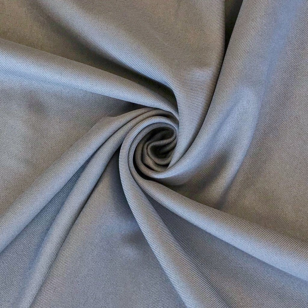 High Quality Plain Grey Woven Polyester Fabric - Pound Fabrics