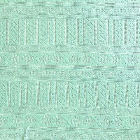Pale Mint Lace Fabric - Pound Fabrics