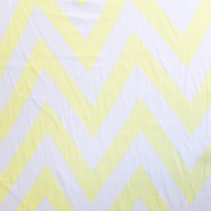 Yellow and White Zig Zag Chiffon Fabric - Pound Fabrics