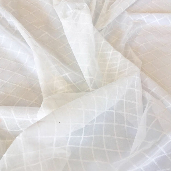Cream Diamond Net Fabric - Pound Fabrics
