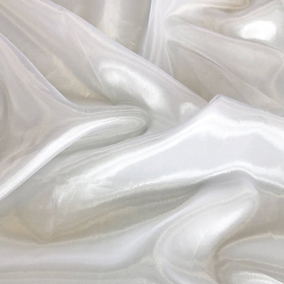 White Polyester Organza Fabric