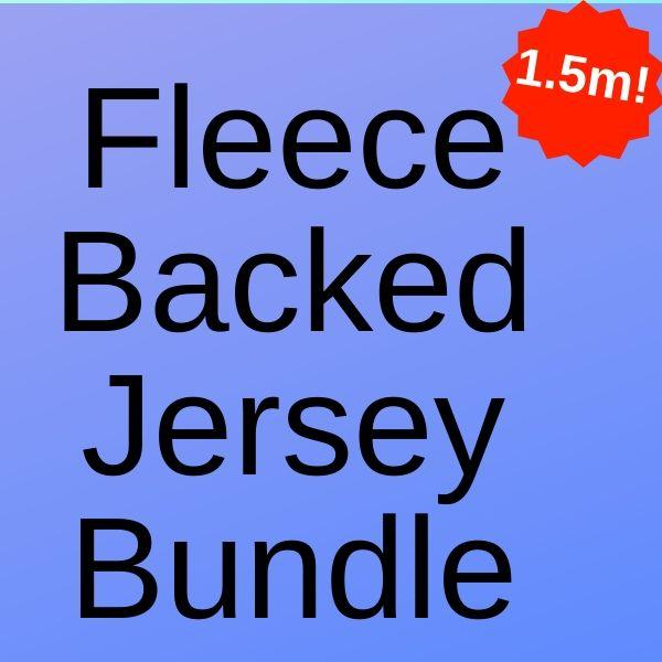 Fleece Backed Jersey Fabric Bundle - 3 x 0.5 Metres (Total 1.5 Metres) - Pound Fabrics