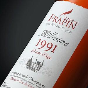 Cognac Frapin Millesime 1991 20 Years Old Cognac Grande Champagne