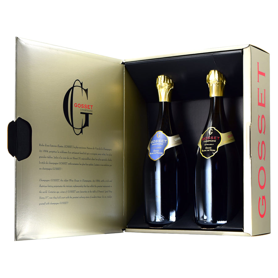 Gosset Champagne Twin-Pack Gift Box (Box Only, Champagne Not Included)