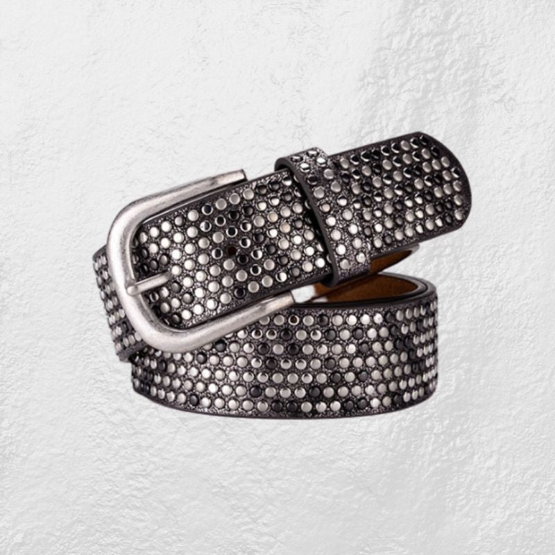 Boho Bling Pewter Rivet Belt