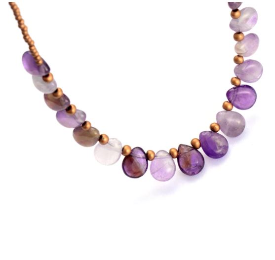Amethyst Boho Crystal Necklace Choker
