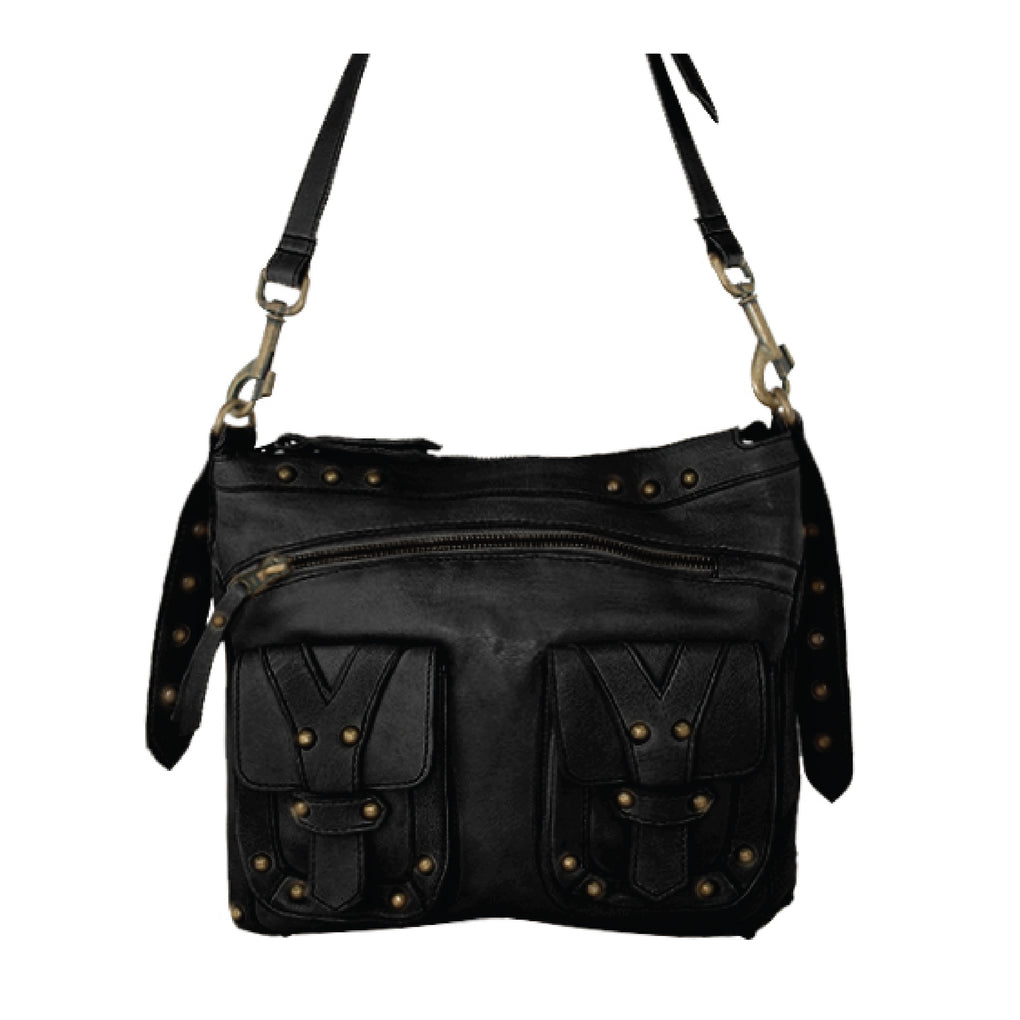 Cadelle Leather Athena Black Boho Bag