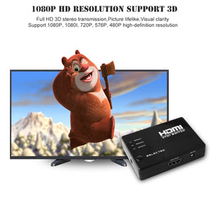 HDMI Switcher with 3 Ports and Remote