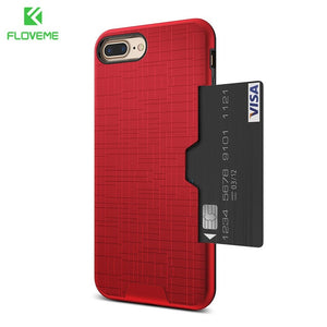FLOVEME Card Slot Phone Case For iPhone 7 Luxury Wallet Mobile Accessories For iPhone 8 6 6s 7 Plus Cases For iPhone X XS MAX XR