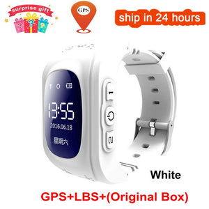 KGG Anti Lost Q50 OLED Child GPS Tracker SOS Smart Monitoring Positioning Phone Kids GPS Baby Watch Compatible IOS & Android