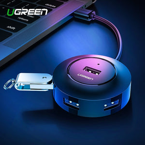 Ugreen USB HUB 4 Port USB 2.0 Splitter Switch with Micro USB Charging Port for iMac Computer Laptop Accessories OTG HUB USB