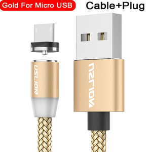 USLION Magnetic USB Cable Fast Charging USB Type C Cable Magnet Charger Data Charge Micro USB Cable Mobile Phone Cable USB Cord