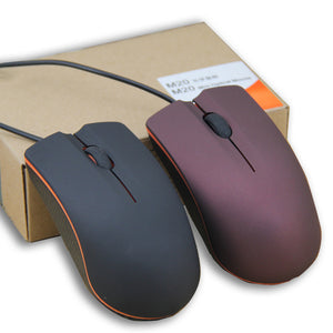 1200DPI For PC Laptop Engineering Plastic Optical USB Computer Accessories Wired Mouse Professional Silent Frosted Surface Mice