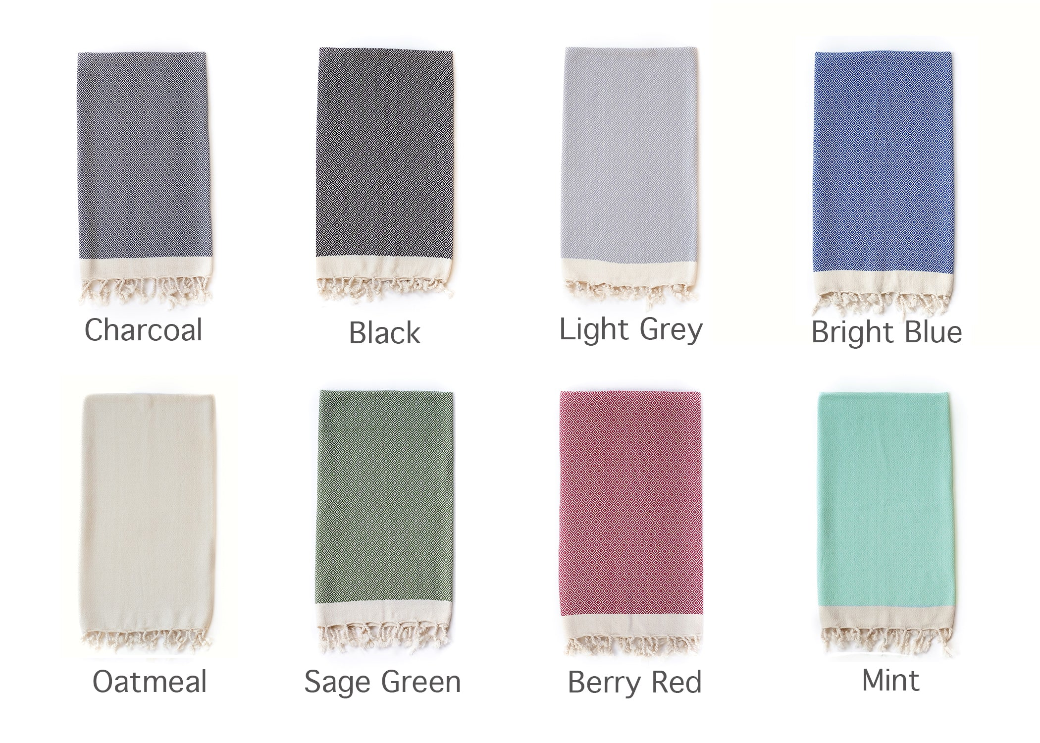 Samimi maxi a luxury lightweight bath towel by Arc lore, displayed in a variety of colours in diamond pattern