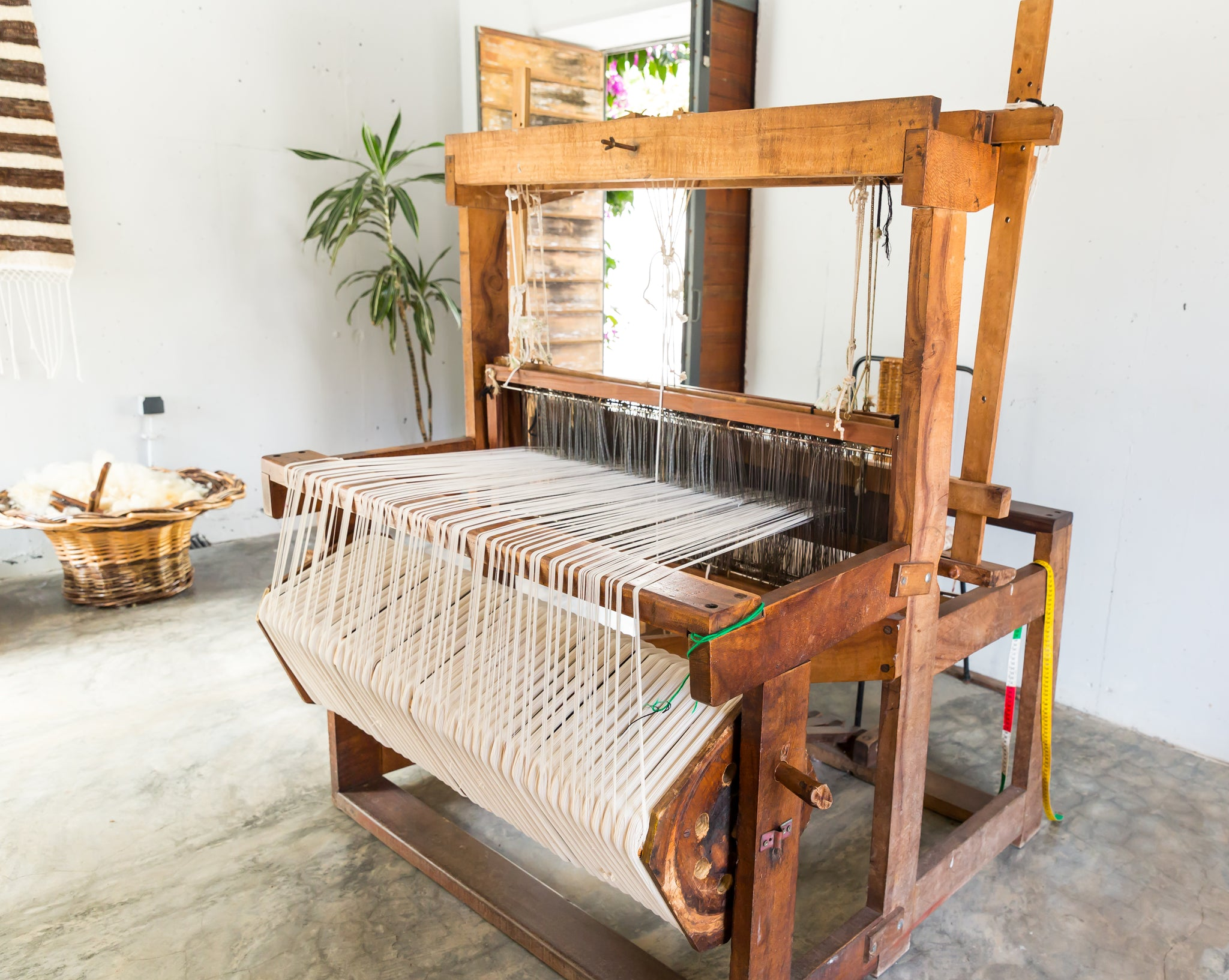 Traditional Turkish shuttle loom used in production of turkish cotton towels