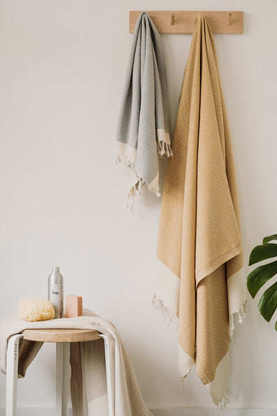 Mix and match stylish colours in Arc Lore's gorgeous organic bath collection to complete the perfect customised bathroom