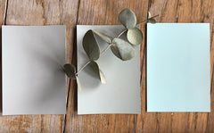 Colour swatches for wall paint