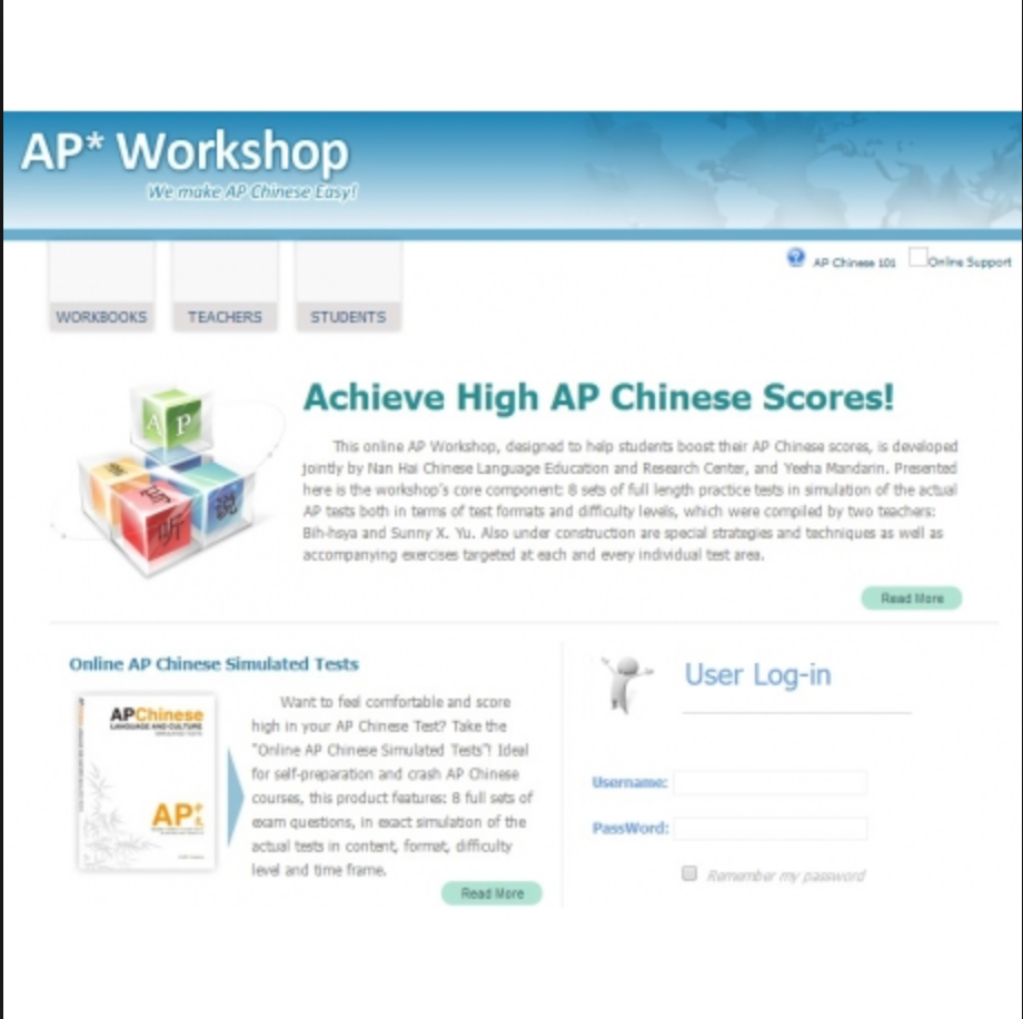 AP workshop Package (AP Chinese Simulated Tests+online Workshop)