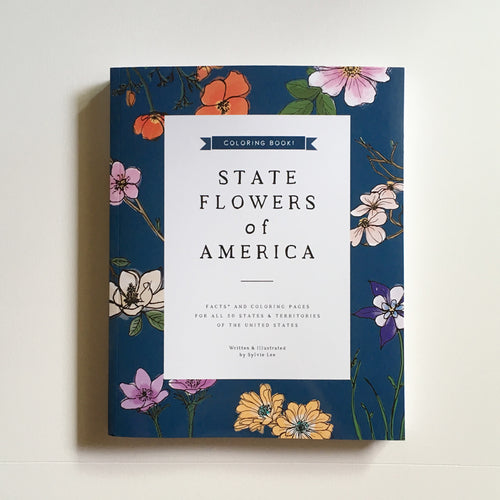 state-flowers-of-america-coloring-book-front-cover