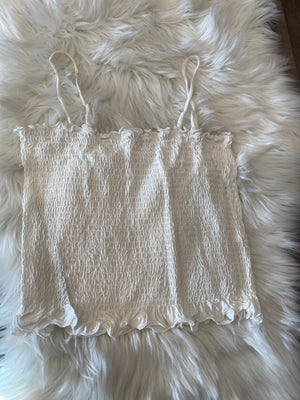Sunshine Crop Top- White