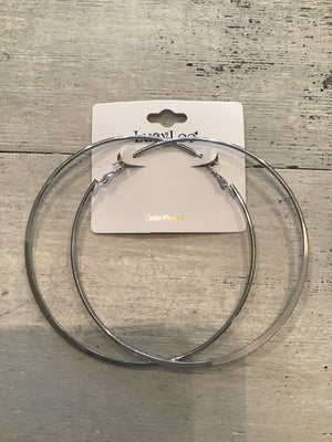 Silver Large Hoops