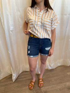 Yellow Stripped Blouse