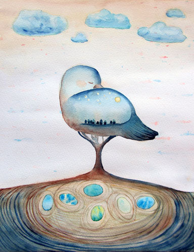 Madár álom, akvarell | Dream of a Bird, watercolor