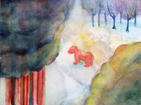 Medveles, akvarell | Bearwatching, watercolor
