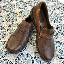 Earth Origins by Earth Women's Leather Shoes - Brown Leather Slip On - US 9 Wide