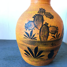 Vintage Orange Mexican Pottery Vase
