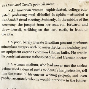 Drum and Candle Brazilian Voodoo and Spiritism - David St. Clair - 1971