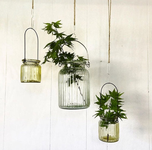 Glass Jar Hanging Candle Holders