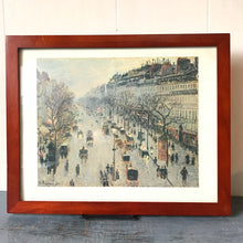 Boulevard Montmarte on a Winter Day Framed Litho Camille Pissarro