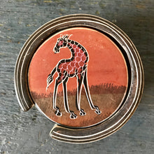Hand Painted African Animals Coasters