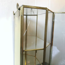 Vintage Brass and Glass Curio Cabinet
