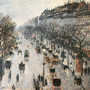 Boulevard Montmartre on a Winter Day Framed Litho Camille Pissarro