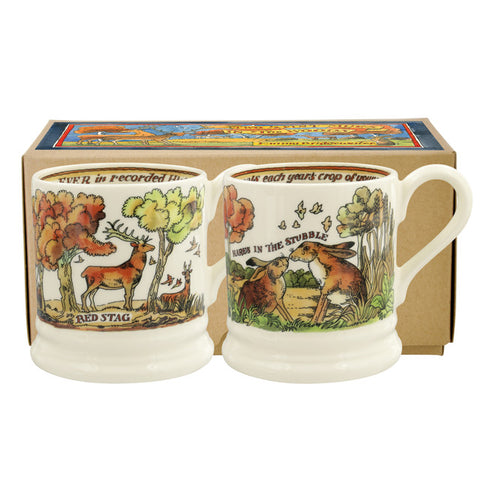 Emma Bridgewater In the Wood Set of 2 1/2 Pint Mugs Boxed