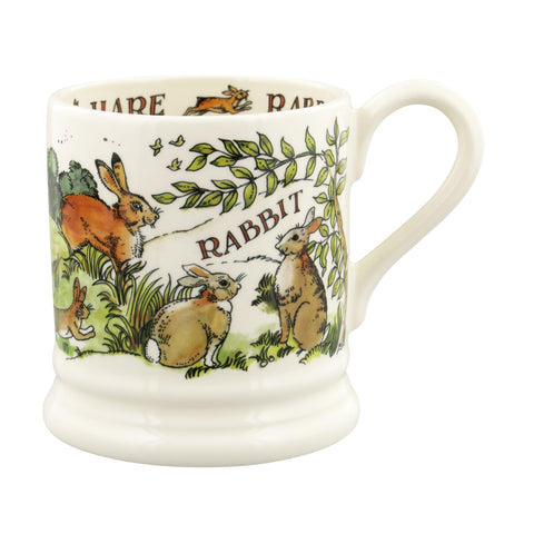 Emma Bridgewater In The Woods Rabbits & Hares 1/2 Pint Mug