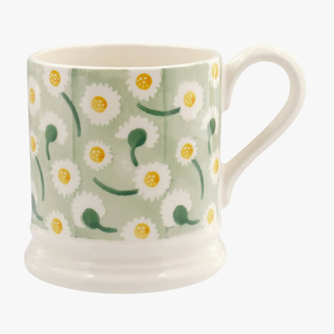 Emma Bridgewater Daisy Light Green 1/2 Pint Mug