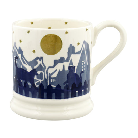 Emma Bridgewater Midnight Cats 1/2 Pint Mug