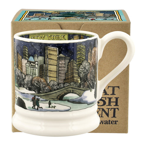 Emma Bridgewater Cities Of Dreams New York At Christmas 1/2 Pint Mug Boxed