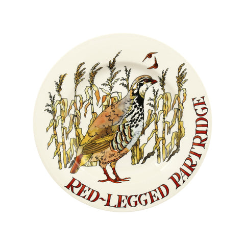 Emma Bridgewater Game Birds Red Legged Partridge 8 1/2 Inch Plate