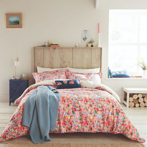 Joules Hollyhock Meadow Kingsize Duvet Cover